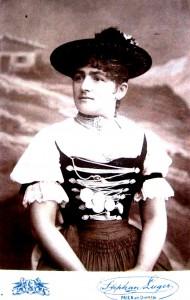 Anna Kopp geb. Brunnhuber Schöpferin des Priener Huts © Heimatmuseum Prien
