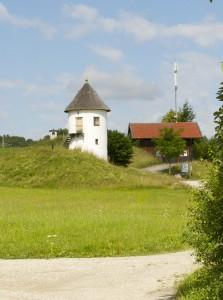 Sole-Hochreserve und Wasserturm Bergham © Salzburg Research