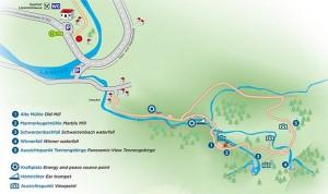 Karte des Mühlenrundweg Scheffau © Tourismusverband Scheffau am Tennengebirge