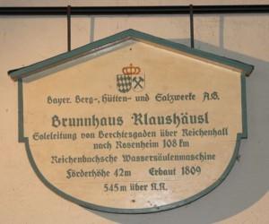 Schild Brunnhaus Klaushäusl © Salzburg Research