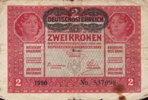Zwei Kronen um 1917 © Wikimedia Commons